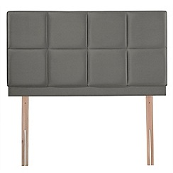 Airsprung - Dark grey velvet 'Portsmoor' headboard