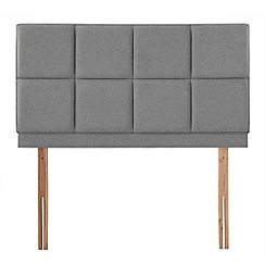 Airsprung - Grey super-soft fabric 'Portsmoor' headboard