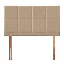 Airsprung - Beige super-soft fabric 'Portsmoor' headboard