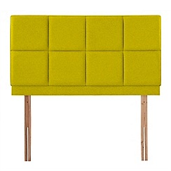Airsprung - Yellow super-soft fabric 'Portsmoor' headboard