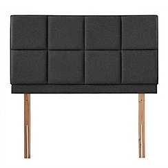 Airsprung - Black super-soft fabric 'Portsmoor' headboard