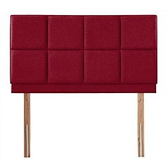 Airsprung - Red super-soft fabric 'Portsmoor' headboard
