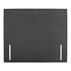 Sleepeezee - Dark grey plush velvet 'Quince' headboard