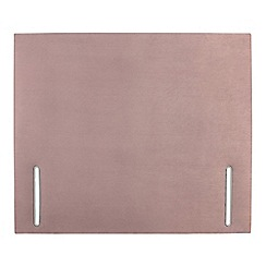 Sleepeezee - Light pink plush velvet 'Quince' headboard