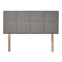 Sleepeezee - Light grey flat weave 'Choc' headboard
