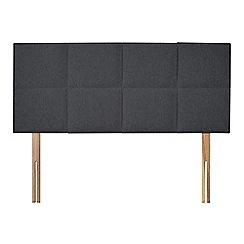 Sleepeezee - Dark grey flat weave 'Choc' headboard