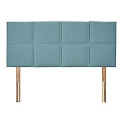 Sleepeezee - Light blue flat weave 'Choc' headboard
