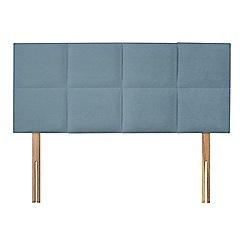 Sleepeezee - Light blue plush velvet 'Choc' headboard