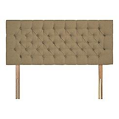 Sleepeezee - Camel flat weave 'Button' headboard