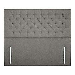 Sleepeezee - Light grey flat weave 'Chester' headboard