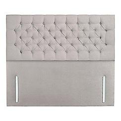 Sleepeezee - Light grey plush velvet 'Chester' headboard