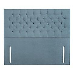 Sleepeezee - Light blue plush velvet 'Chester' headboard