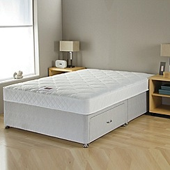 Airsprung - 'No-turn' divan bed with mattress