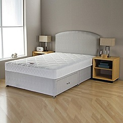 Airsprung - 'No-turn' divan bed with headboard and mattress