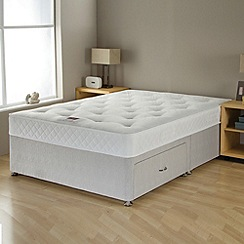 Airsprung - 'No-turn Deluxe' divan bed with mattress