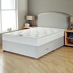 Airsprung - 'No-turn Deluxe' divan bed with headboard and mattress