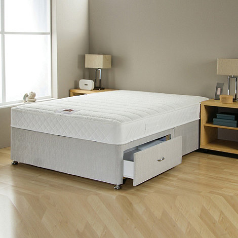 Airsprung - +No-turn Memory+ divan bed with mattress