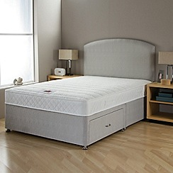 Airsprung - 'No-turn Memory' divan bed with headboard and mattress