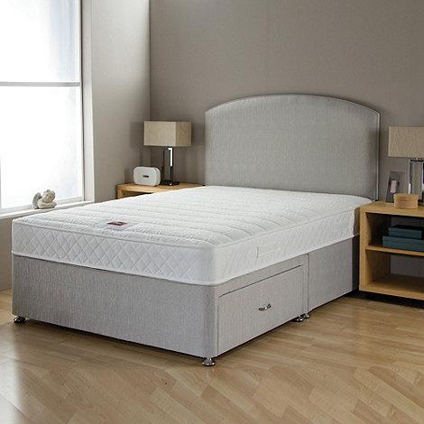 Airsprung - +No-turn Memory+ divan bed with headboard and mattress