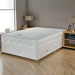 Airsprung - 'Gold Cool-Memory Trizone' divan bed with mattress