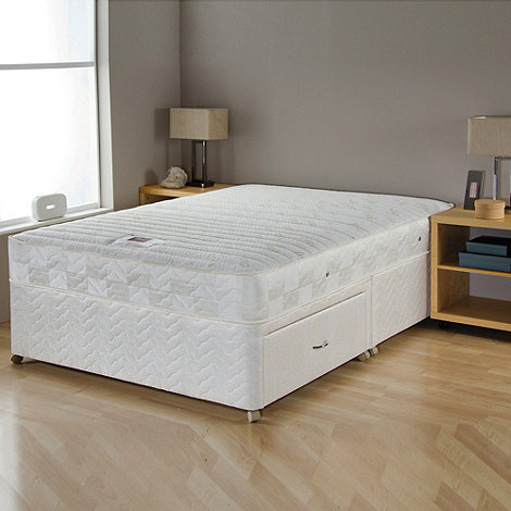 Airsprung - +Gold Cool-Memory Trizone+ divan bed with mattress