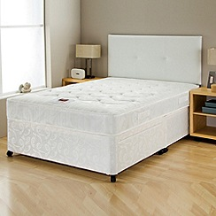 Airsprung - Silver comfort' divan bed with mattress