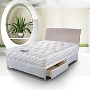 Cool Comfort Chrome 2000' divan bed and mattress set