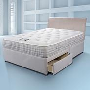 White 'Touch Latex 2000' divan bed and mattress set
