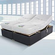 Cool Comfort adjustable' divan bed and mattress set