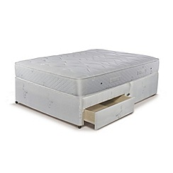 Sleepeezee - Natural Luxury 1200' divan bed with mattress and 2 drawers