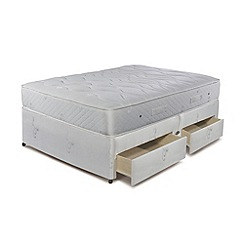 Sleepeezee - 'Natural Luxury 1200' divan bed with mattress and 4 drawers