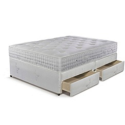 Sleepeezee - 'Natural Luxury 2000' divan bed with mattress and 4 drawers