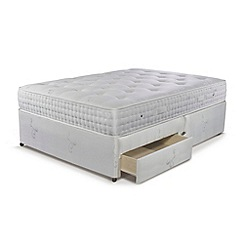 Sleepeezee - 'Natural Luxury 3000' divan bed with mattress and 2 drawers
