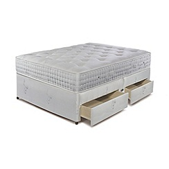 Sleepeezee - 'Natural Luxury 3000' divan bed with mattress and 4 drawers