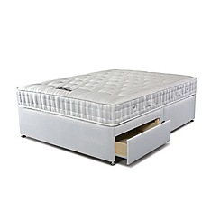 Sleepeezee - 'Supreme Ortho 1000' divan bed with mattress and 2 drawers