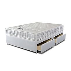 Sleepeezee - 'Supreme Ortho 1000' divan bed with mattress and 4 drawers