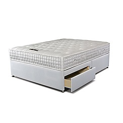 Sleepeezee - 'Supreme Ortho 2000' divan bed with mattress and 2 drawers