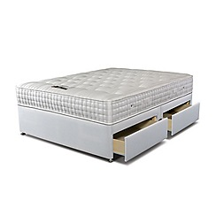 Sleepeezee - 'Supreme Ortho 2000' divan bed with mattress and 4 drawers
