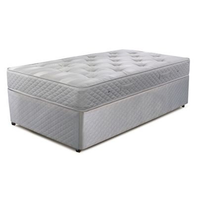 Cumfilux Grey ´Supacoil Essential´ divan bed with mattress - . -