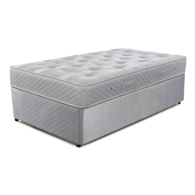 Cumfilux Grey ´Supacoil Ultimate´ divan bed with mattress - . -
