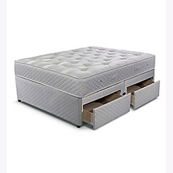 Cumfilux - 'Supacoil Ultimate' divan bed with mattress and 4 drawers