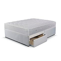 Simmons - 'Technicool Memory 600' divan bed with memory foam mattress and 2 drawers