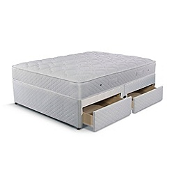 Simmons - 'Technicool Memory 600' divan bed with memory foam mattress and 4 drawers