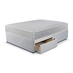 Simmons - Technicool Memory 800' divan bed with mattress and 2 drawers