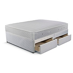 Simmons - 'Technicool Memory 800' divan bed with memory foam mattress and 4 drawers