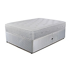 Simmons - 'Technicool Memory 1400' ottoman divan bed with memory foam mattress