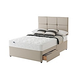 Silentnight - Celestial divan bed with 'Easy Care' mattress and 2 drawers