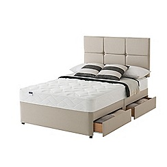 Silentnight - Celestial divan bed with 'Easy Care' mattress and 4 drawers