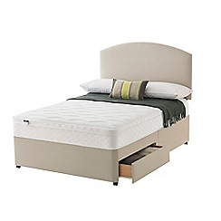 Silentnight - Celestial divan bed with 'Cushion Top' mattress and 2 drawers