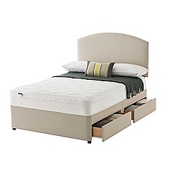 Silentnight - Celestial divan bed with 'Cushion Top' mattress and 4 drawers